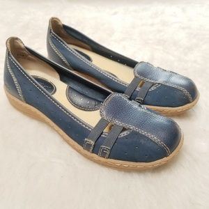BOC Leather Flats Blue suede and leather 6.5